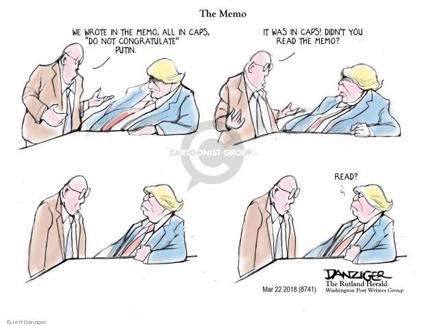 Cartoonist Jeff Danziger  Jeff Danziger's Editorial Cartoons 2018-03-25 leadership