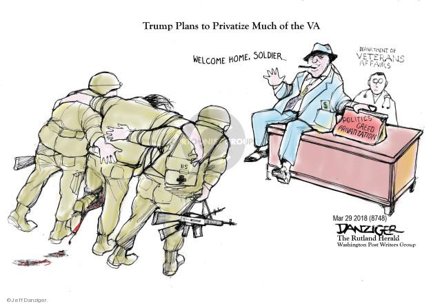 Cartoonist Jeff Danziger  Jeff Danziger's Editorial Cartoons 2018-04-03 care