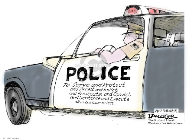 Cartoonist Jeff Danziger  Jeff Danziger's Editorial Cartoons 2018-04-05 police