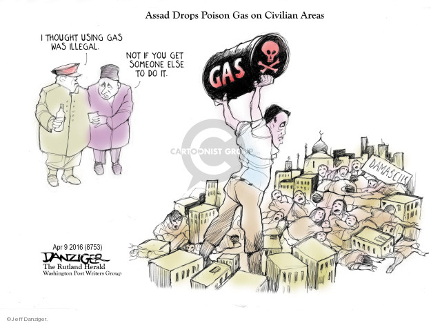 Cartoonist Jeff Danziger  Jeff Danziger's Editorial Cartoons 2018-04-10 gas