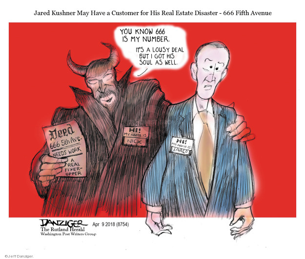 Cartoonist Jeff Danziger  Jeff Danziger's Editorial Cartoons 2018-04-11 devil