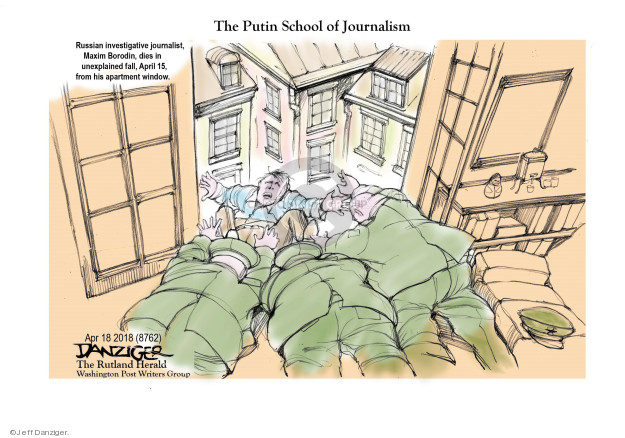 Jeff Danziger  Jeff Danziger's Editorial Cartoons 2018-04-19 murder