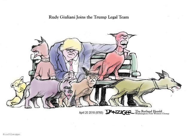 Jeff Danziger  Jeff Danziger's Editorial Cartoons 2018-04-21 Rudy Giuliani
