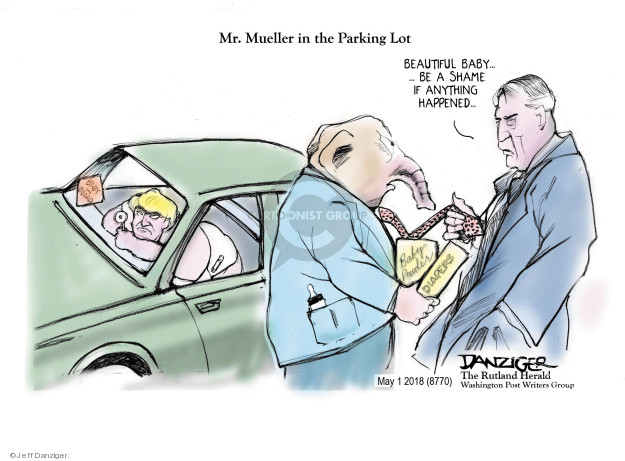 Cartoonist Jeff Danziger  Jeff Danziger's Editorial Cartoons 2018-05-01 special counsel