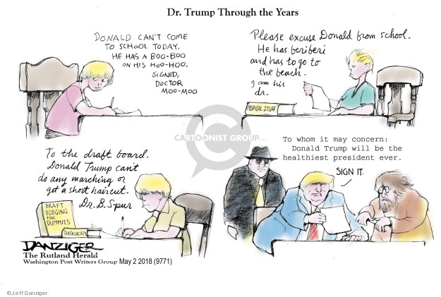 Cartoonist Jeff Danziger  Jeff Danziger's Editorial Cartoons 2018-05-02 draft