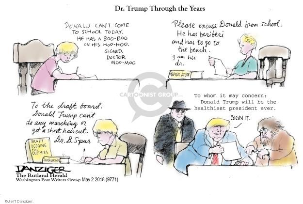 Cartoonist Jeff Danziger  Jeff Danziger's Editorial Cartoons 2018-05-02 board