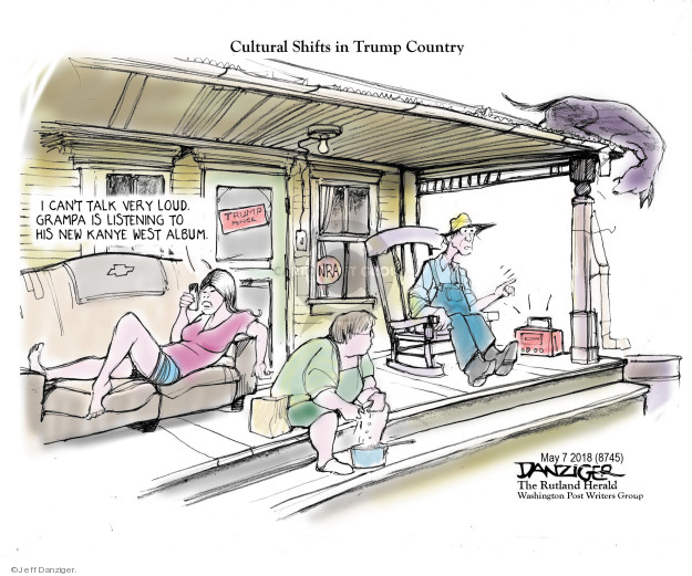 Cartoonist Jeff Danziger  Jeff Danziger's Editorial Cartoons 2018-05-07 conservatism