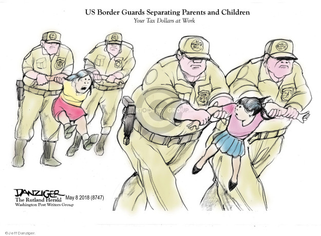 Cartoonist Jeff Danziger  Jeff Danziger's Editorial Cartoons 2018-05-09 migrant