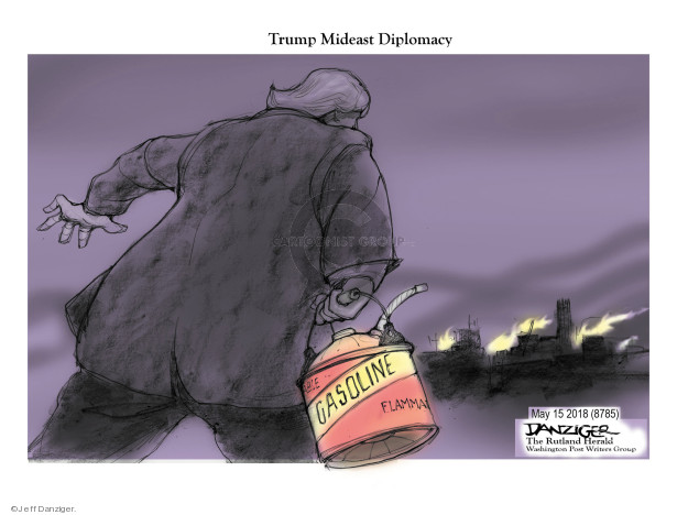 Cartoonist Jeff Danziger  Jeff Danziger's Editorial Cartoons 2018-05-17 violence