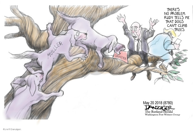 Cartoonist Jeff Danziger  Jeff Danziger's Editorial Cartoons 2018-05-21 no problem
