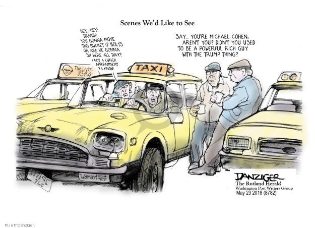 Cartoonist Jeff Danziger  Jeff Danziger's Editorial Cartoons 2018-05-23 lawyer