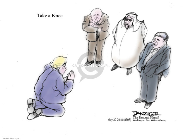 Cartoonist Jeff Danziger  Jeff Danziger's Editorial Cartoons 2018-05-30 international relations