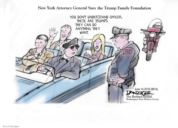 Cartoonist Jeff Danziger  Jeff Danziger's Editorial Cartoons 2018-06-15 junior