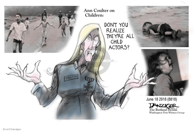 Cartoonist Jeff Danziger  Jeff Danziger's Editorial Cartoons 2018-06-19 migrant