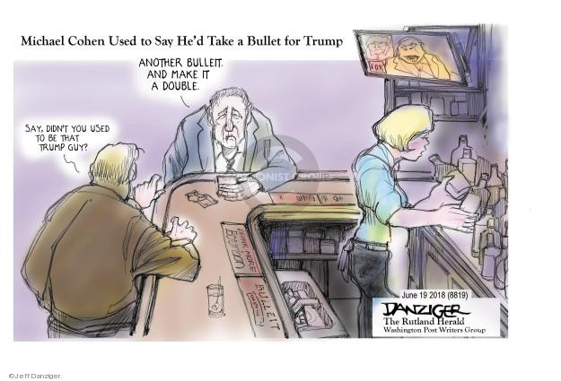 Cartoonist Jeff Danziger  Jeff Danziger's Editorial Cartoons 2018-06-20 lawyer