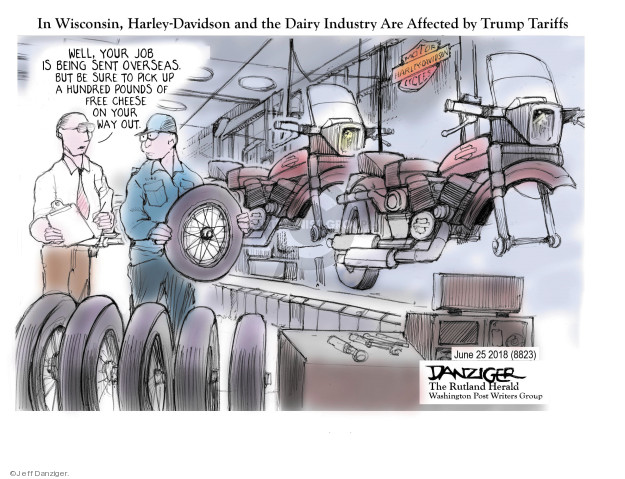 Cartoonist Jeff Danziger  Jeff Danziger's Editorial Cartoons 2018-06-25 send