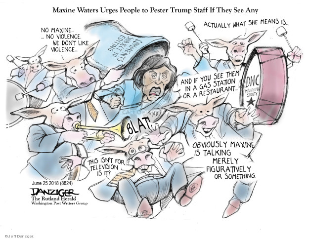 Cartoonist Jeff Danziger  Jeff Danziger's Editorial Cartoons 2018-06-26 violence