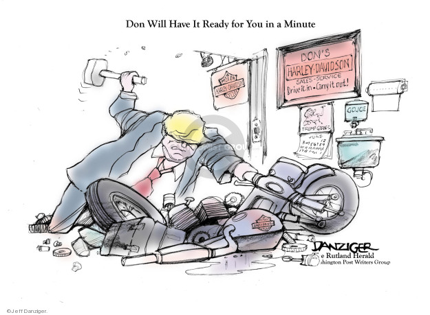 Cartoonist Jeff Danziger  Jeff Danziger's Editorial Cartoons 2018-06-27 ready