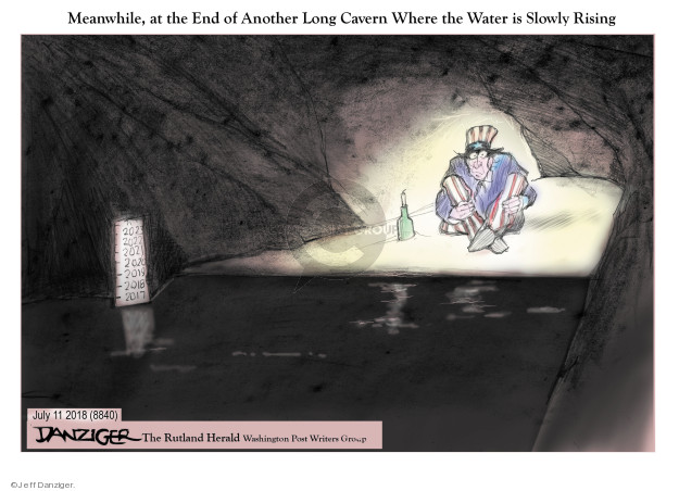 Meanwhile, at the End of Another Long Cavern Where the Water is Slowly Rising.