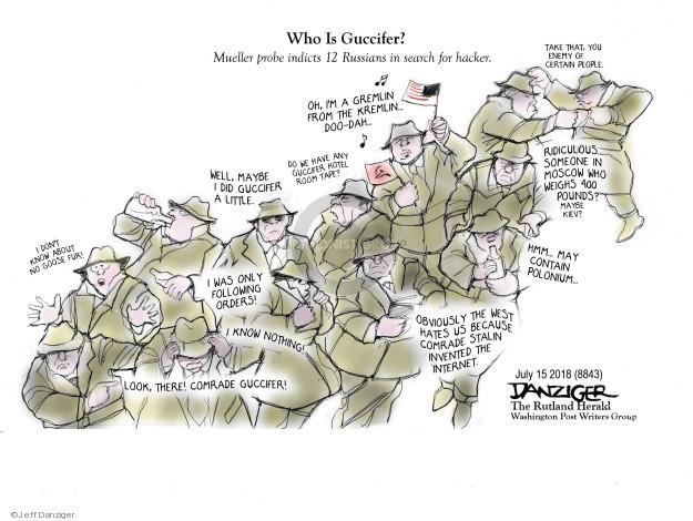 Cartoonist Jeff Danziger  Jeff Danziger's Editorial Cartoons 2018-07-15 influence