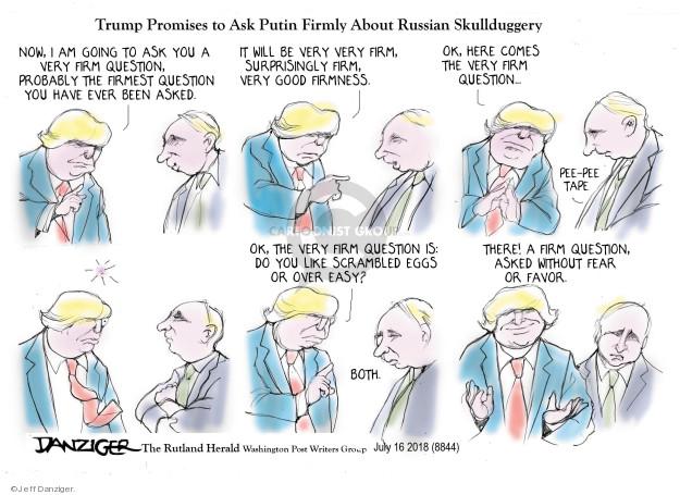 Cartoonist Jeff Danziger  Jeff Danziger's Editorial Cartoons 2018-07-16 influence