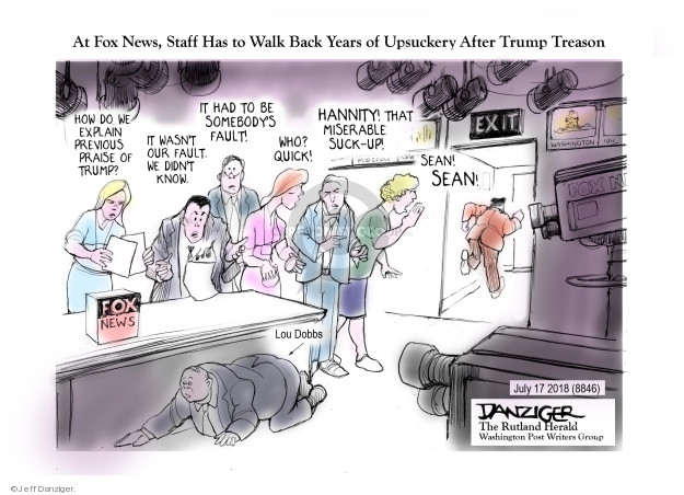 Jeff Danziger  Jeff Danziger's Editorial Cartoons 2018-07-18 Donald Trump Sean Hannity
