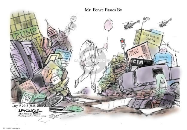 Jeff Danziger  Jeff Danziger's Editorial Cartoons 2018-07-20 Mike Pence