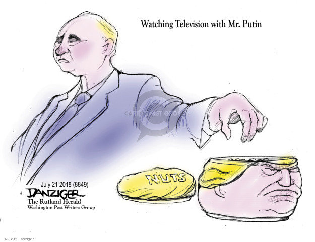 Watching Television with Mr. Putin. Nuts.