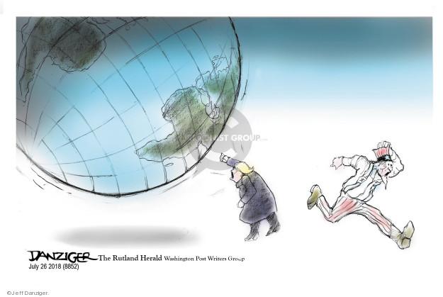 Cartoonist Jeff Danziger  Jeff Danziger's Editorial Cartoons 2018-07-25 threaten