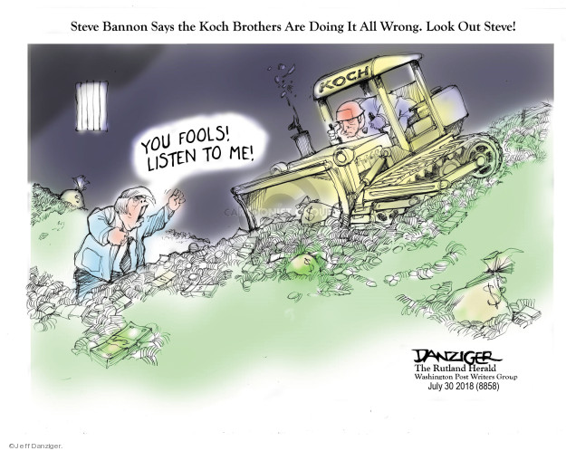 Jeff Danziger  Jeff Danziger's Editorial Cartoons 2018-08-01 Koch brothers