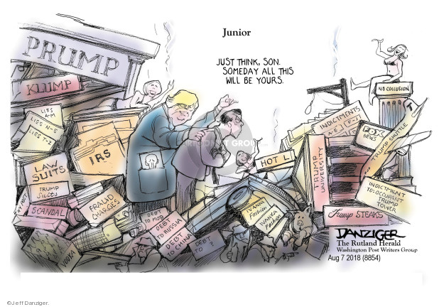 Cartoonist Jeff Danziger  Jeff Danziger's Editorial Cartoons 2018-08-08 political scandal