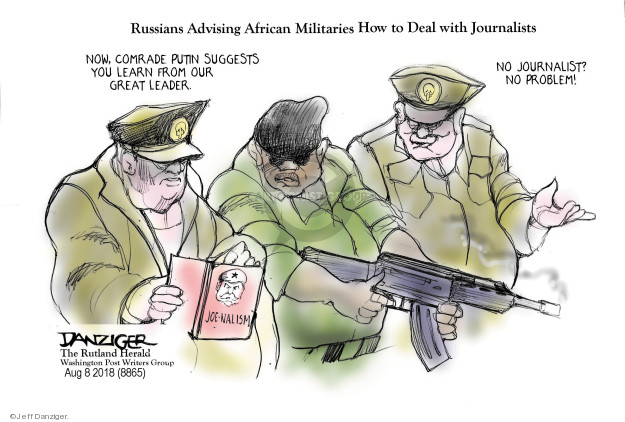 Cartoonist Jeff Danziger  Jeff Danziger's Editorial Cartoons 2018-08-09 no problem