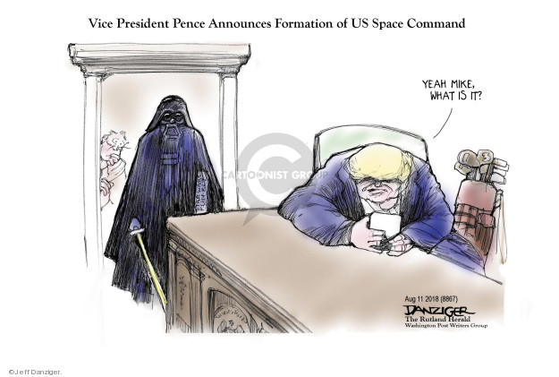 Cartoonist Jeff Danziger  Jeff Danziger's Editorial Cartoons 2018-08-12 United States Military