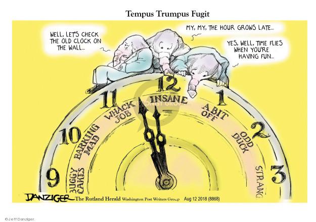 Jeff Danziger  Jeff Danziger's Editorial Cartoons 2018-08-13 Presidency