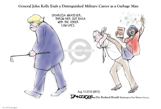 Cartoonist Jeff Danziger  Jeff Danziger's Editorial Cartoons 2018-08-14 throw