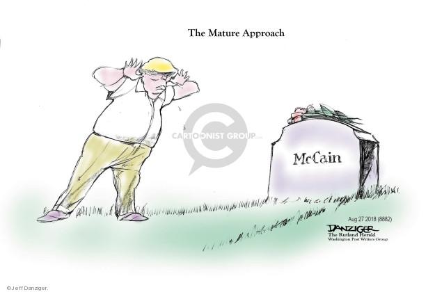 Cartoonist Jeff Danziger  Jeff Danziger's Editorial Cartoons 2018-08-27 death