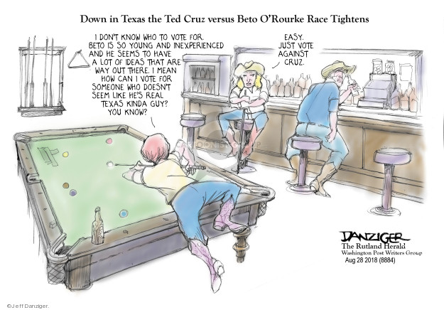 Cartoonist Jeff Danziger  Jeff Danziger's Editorial Cartoons 2018-08-29 race