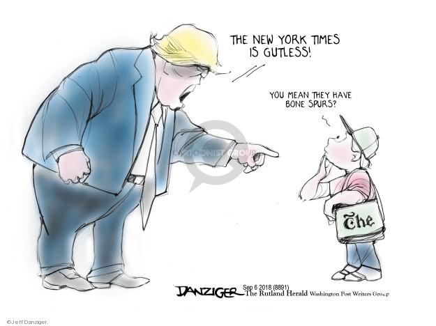 Cartoonist Jeff Danziger  Jeff Danziger's Editorial Cartoons 2018-09-07 opinion