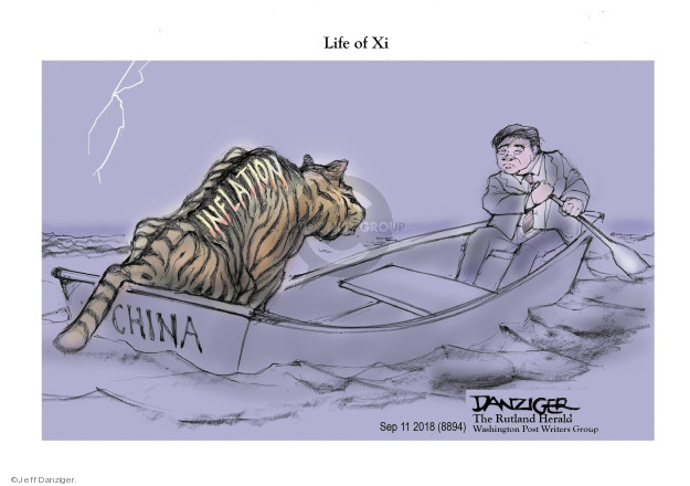 Cartoonist Jeff Danziger  Jeff Danziger's Editorial Cartoons 2018-09-11 foreign trade