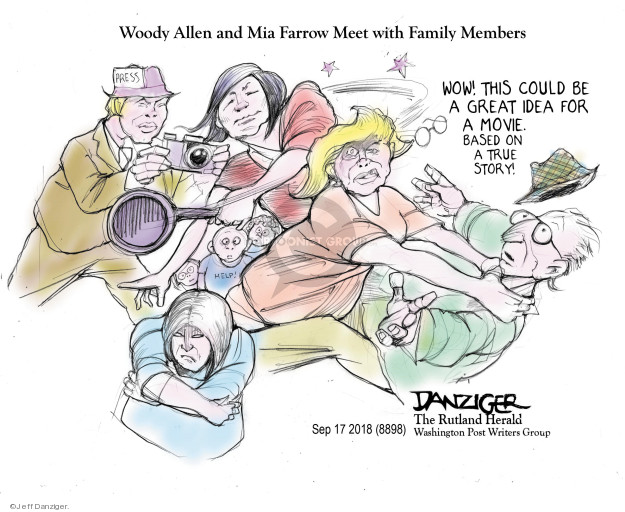 Cartoonist Jeff Danziger  Jeff Danziger's Editorial Cartoons 2018-09-18 conflict