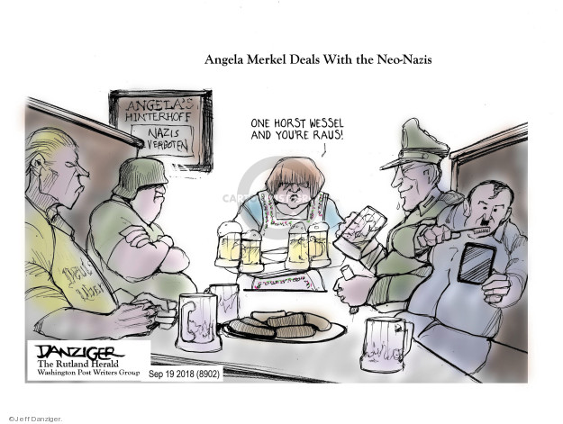 Cartoonist Jeff Danziger  Jeff Danziger's Editorial Cartoons 2018-09-19 discrimination