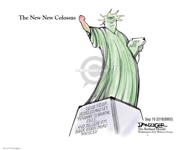 Cartoonist Jeff Danziger  Jeff Danziger's Editorial Cartoons 2018-09-21 migrant
