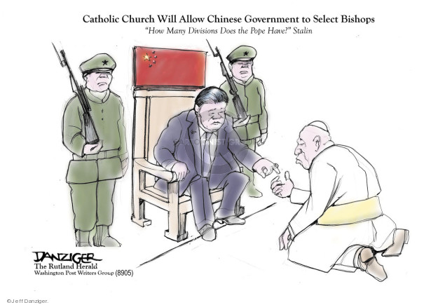 Cartoonist Jeff Danziger  Jeff Danziger's Editorial Cartoons 2018-09-24 religion