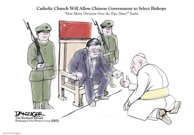 Cartoonist Jeff Danziger  Jeff Danziger's Editorial Cartoons 2018-09-24 pope
