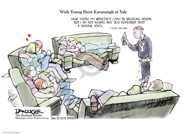 Cartoonist Jeff Danziger  Jeff Danziger's Editorial Cartoons 2018-09-26 Brett Kavanaugh