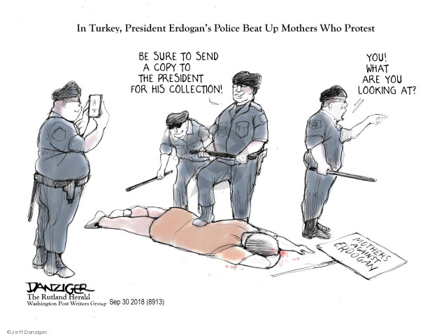 Cartoonist Jeff Danziger  Jeff Danziger's Editorial Cartoons 2018-10-04 violence