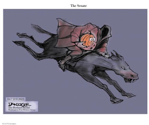 Cartoonist Jeff Danziger  Jeff Danziger's Editorial Cartoons 2018-10-10 Mitch McConnell
