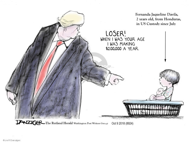 Cartoonist Jeff Danziger  Jeff Danziger's Editorial Cartoons 2018-10-12 migrant
