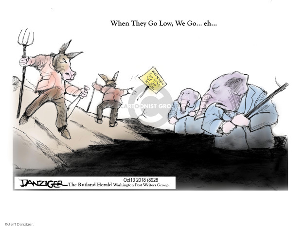 Cartoonist Jeff Danziger  Jeff Danziger's Editorial Cartoons 2018-10-16 left