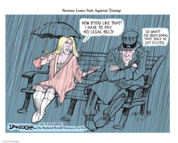 Cartoonist Jeff Danziger  Jeff Danziger's Editorial Cartoons 2018-10-18 fee